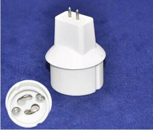 China MR16(outside) to GU10(inside) socket,GU10 led lamp light bulb test adapter holder converter for MR16 led lighting on sale