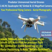 Predator Unmanned Aerial Vehicle 7CH RC Quadcopter Drone Photography Fly Camera Recorder