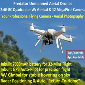 China Predator Unmanned Aerial Vehicle 7CH RC Quadcopter Drone Photography Fly Camera Recorder on sale