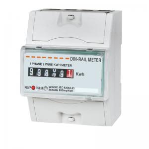 China High Accuracy Din Rail Watt Hour Meter , 4P Single Phase Watt Hour Meter With CT/ PT on sale