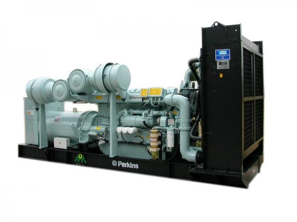 720kw Silent Perkins Gas Generator With Water Cooled , 230V