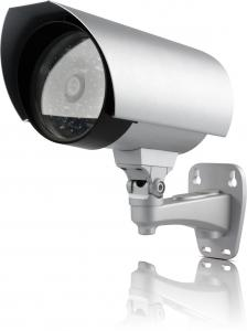 China 30M White Bullet Outdoor CCTV Camera Weatherproof With 2PCS Super IR Array on sale