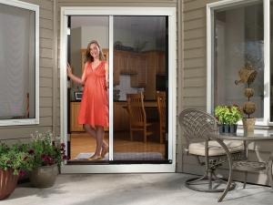 China Window&Door type trackless screen door mosquito netting retractable door on sale