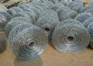 China Concertina Razor  Spiral  Security Barbed Wire  Barrier  Off Road Flat Wrap on sale