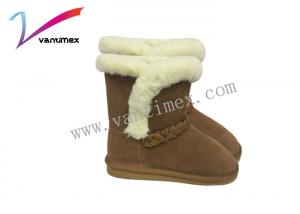 China Students Add Velvet Short Ugg Thick Warm Womens Winter Boots Braid Ornament on sale