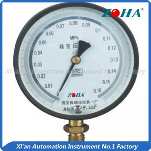 China Dial Face Zero Adjustment Precision Pressure Gauge With Phosphor Bronze Tube on sale