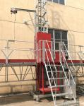 Single Tower Mast Climbing Equipment Adjustable Height Work Platform For Building Construction