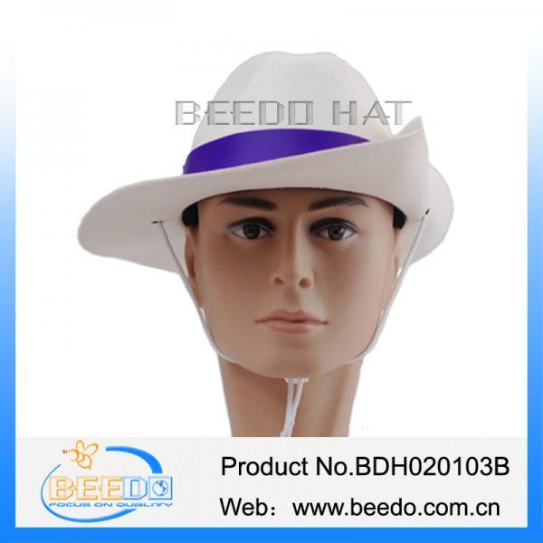 59a64c0e85f Wholesale wool felt white flat brimmed cowboy hat for sale – Wool ...