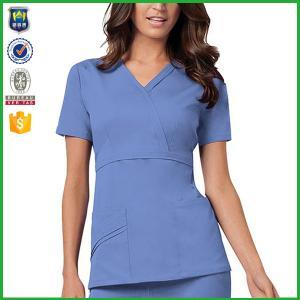 b5b85e2920e ... Quality Hospital Nurse Uniform Medical Office Uniforms Ventilate Cotton  Female Workwear for sale ...