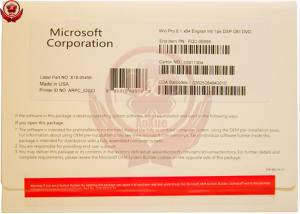Quality Original Sealed Box Microsoft Win 8.1 pro DVD Sofware With COA for sale