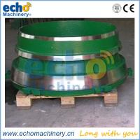 China premium wear parts cone crusher bowl liner,concave and mantle with Mn14,Mn18,Mn22 manganese available on sale