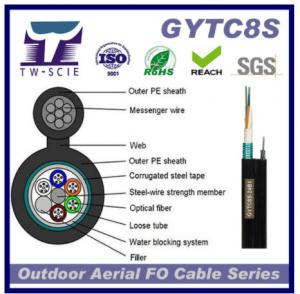 China 36 Core GYTC8s Fiber Optic Network Cable Self - Support Aerial Installation Method on sale