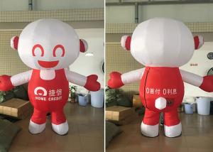 China Walking Cartoon Custom Advertising Inflatables PVC / Oxford Material on sale