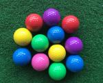 mini golf ball OR low bounce golf ball with two pieces , mini golf ball