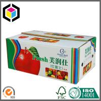Colorful Printed Corrugated Packaging Box for Fruit; Fresh Apple Box