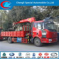 China Dongfeng 4*2 truck crane used DIESEL cranes for sale 2015 new condition truck crane 5 ton on sale