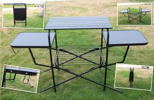 ... Quality PVC Polyester Outdoor Camping Tables , Black / Sliver Portable  Grill Barbecue Table For Sale ...