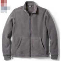 China Windproof Mens Polar Fleece Jacket , Yarn Dyed Mens Fleece Lined Coat on sale