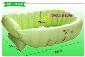 China Green Inflatable Swimming Pools PVC , Air Bathtub For Baby Bathing on sale