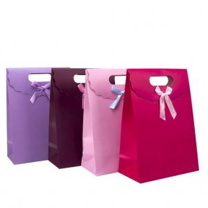 China Fashionable Flip-open Gift Bags, Fine Paper Gift Bags on sale