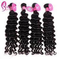 Black Burmese Virgin Remy Deep Wave Human Hair Weave Soft And Smooth