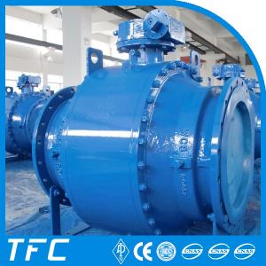 China trunnion moutned DBB API 6D ball valve on sale