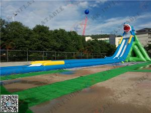 China Commercial Big Shark Inflatable Backyard Water Slide For Beach on sale
