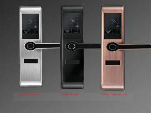 China Durable Smart Biometric Fingerprint Door Lock 5 Unlock Ways 3CM Range Reading on sale