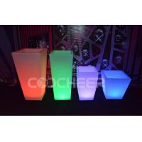 Remote Control Illuminated Led Lighted Flower Pots / Flower Planter Luxury