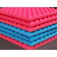 Multi Color PU Sound Deadening Foam , Eco Music Room Acoustic Foam Panels Pyramid Shape