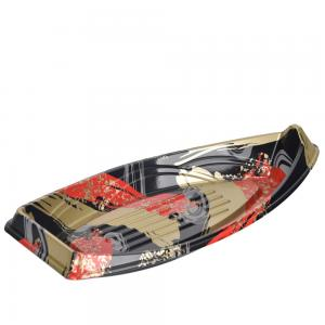 China Stackable Boat Shape PS Eco Friendly Sushi Container on sale