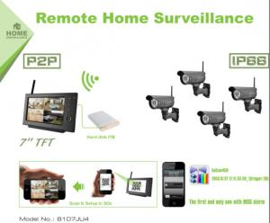 China HD Bullet Waterproof Digital Surveillance Camera System Day Night View on sale