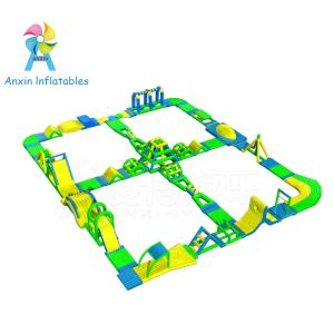 China New Adults Lake Inflatable Water Park On Water, Open Sea Floating Water Obstacle Course For Sale on sale