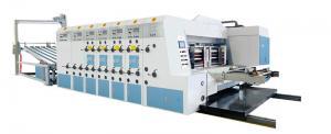 China Lead edge feeder flexo ink  5 colors printing slotting die cutting stacker machine,printing press machine on sale