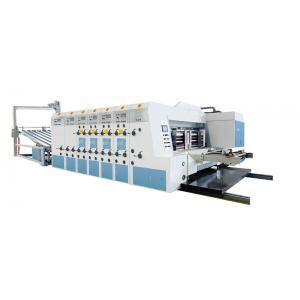 China Lead edge feeder flexo ink  5 colors printing slotting die cutting stacker machine,printing press machine on sale