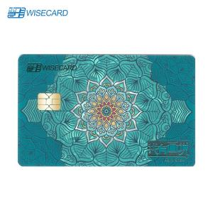 China CR80 Metal Credit Card With Chip Magstripe Fingerprint Access Control on sale