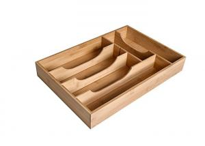 China Premium bamboo expandable drawer organizer cutlery and utensil caddy on sale