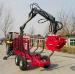Farma Log Trailer with Crane Forestry Machine, Farma Forest Trailer, Farma Log Crane