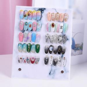 China Marble Acrylic Nail Polish Display Board Nail Art Design Magnet Clear Nail Display Nail Tips Pasting Show on sale