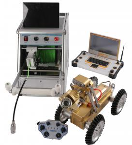 China High Definition Pipe Inspection Robot , Remote Control Robot With Video Camera on sale