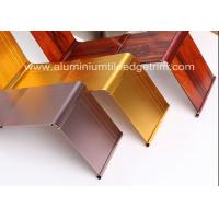 China Gold Brushed Metal Skirting Trim , Aluminium Skirting Duct For Hotel And Office on sale