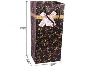 China Shiny Wine Bottle Gift Bag Assorted Colour Party XMas Present Carrier Paper Bags on sale