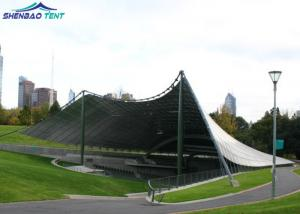 China Large Architecture Fabric Tent Structures With PVDF Cover / Steel Columns on sale