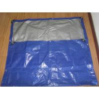 blue/white canvas curtain with rope and grommets form Haicheng in FeiCheng