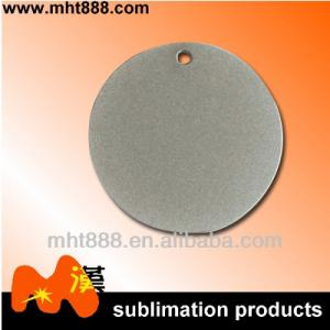 China Round Personalized Sublimation Dog Tags For Boyfriend , Metal Gold Dog Chain Necklace on sale
