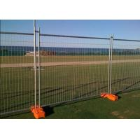 PVC Coated Temporary Mesh Fence /  Galvanized Wire Construction Site Fencing