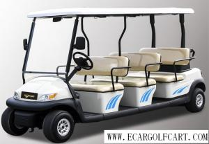 China Customized Colorful 12 Seater Golf Cart Electric Sightseeing Bus With Plastic Armrest on sale