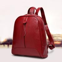 Genuine Leather Stylish Backpacks For Women / Real Cowhide Womens Travel Backpack
