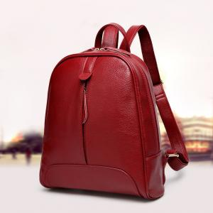 China Genuine Leather Stylish Backpacks For Women / Real Cowhide Womens Travel Backpack on sale