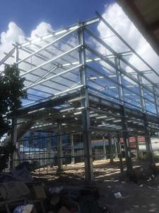 China BS Standard Hot Dip Galvanized Prefabricated Workshop Steel Structure Materials on sale